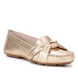 Mocassim Couro Shoestock Comfy Nó Feminino