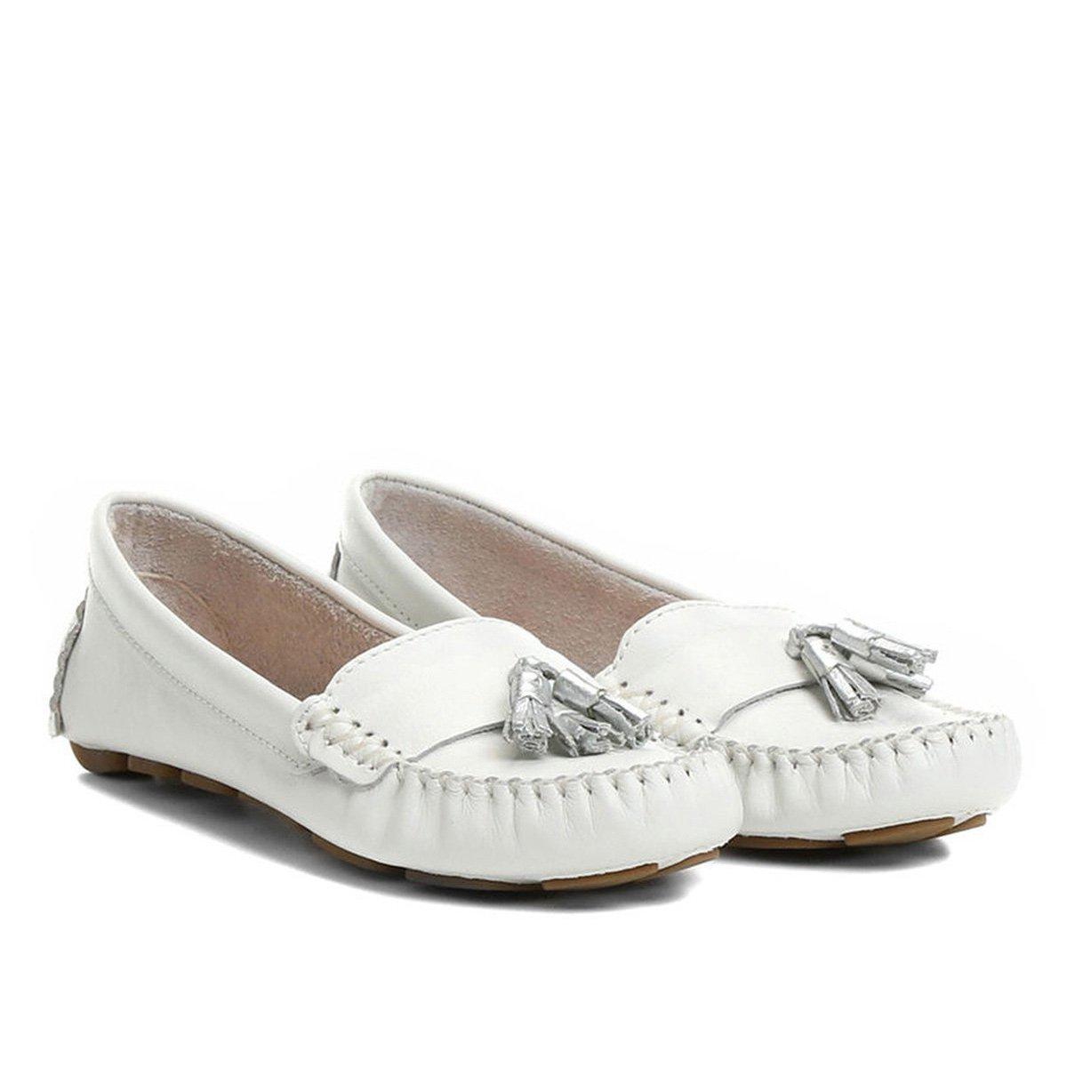 527850fc6e Mocassim Couro Shoestock Drive Barbicacho Feminino - Compre Agora ...