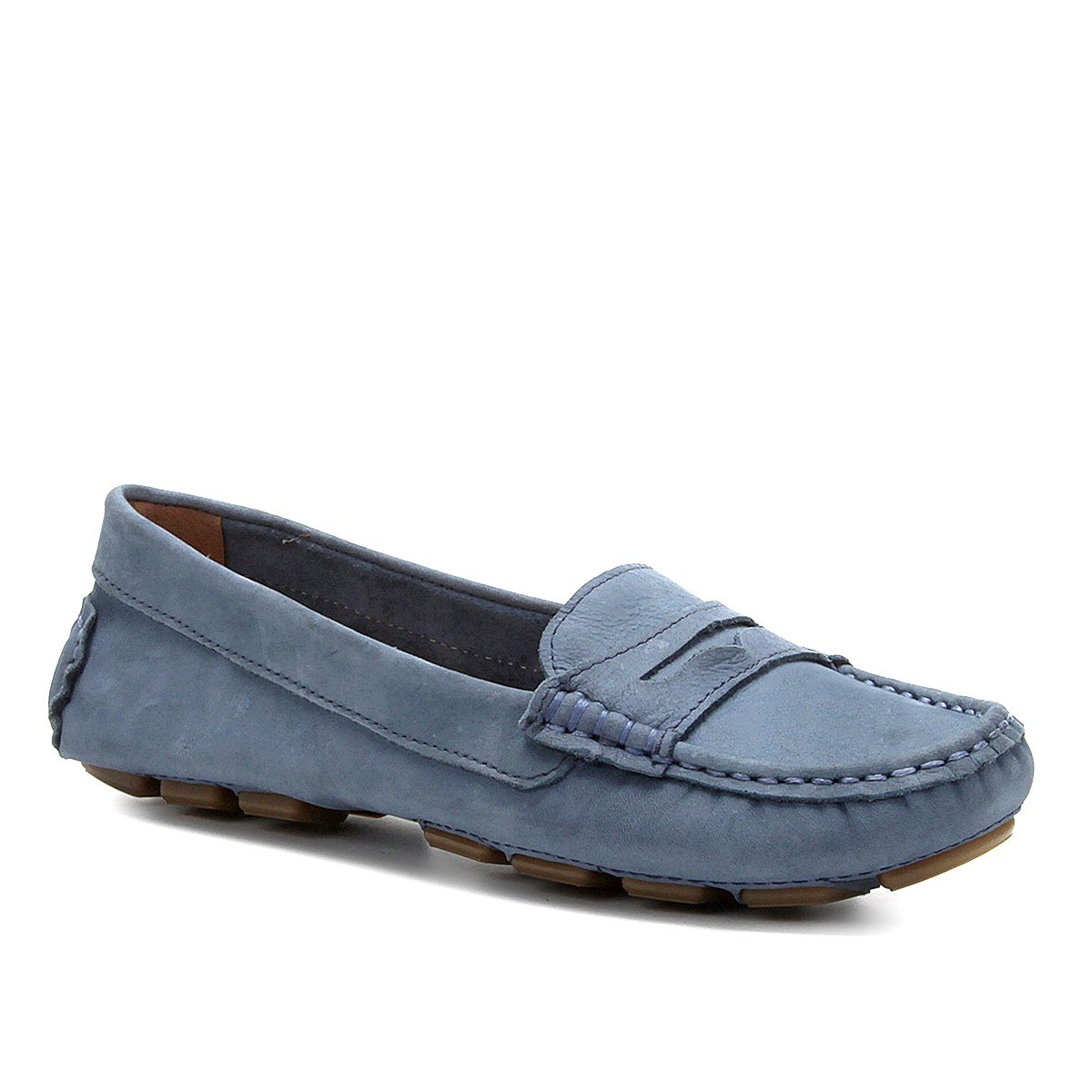 ef42de24d9 Mocassim Couro Shoestock Drive Nobuck Feminino - Azul