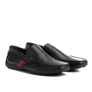 Mocassim Couro Shoestock Gorgurão Lateral Masculino