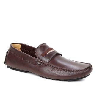 Mocassim Couro Shoestock Gorgurão Masculino