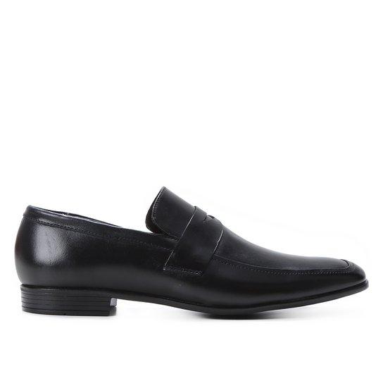 Mocassim Couro Shoestock Gravata Masculino - Preto