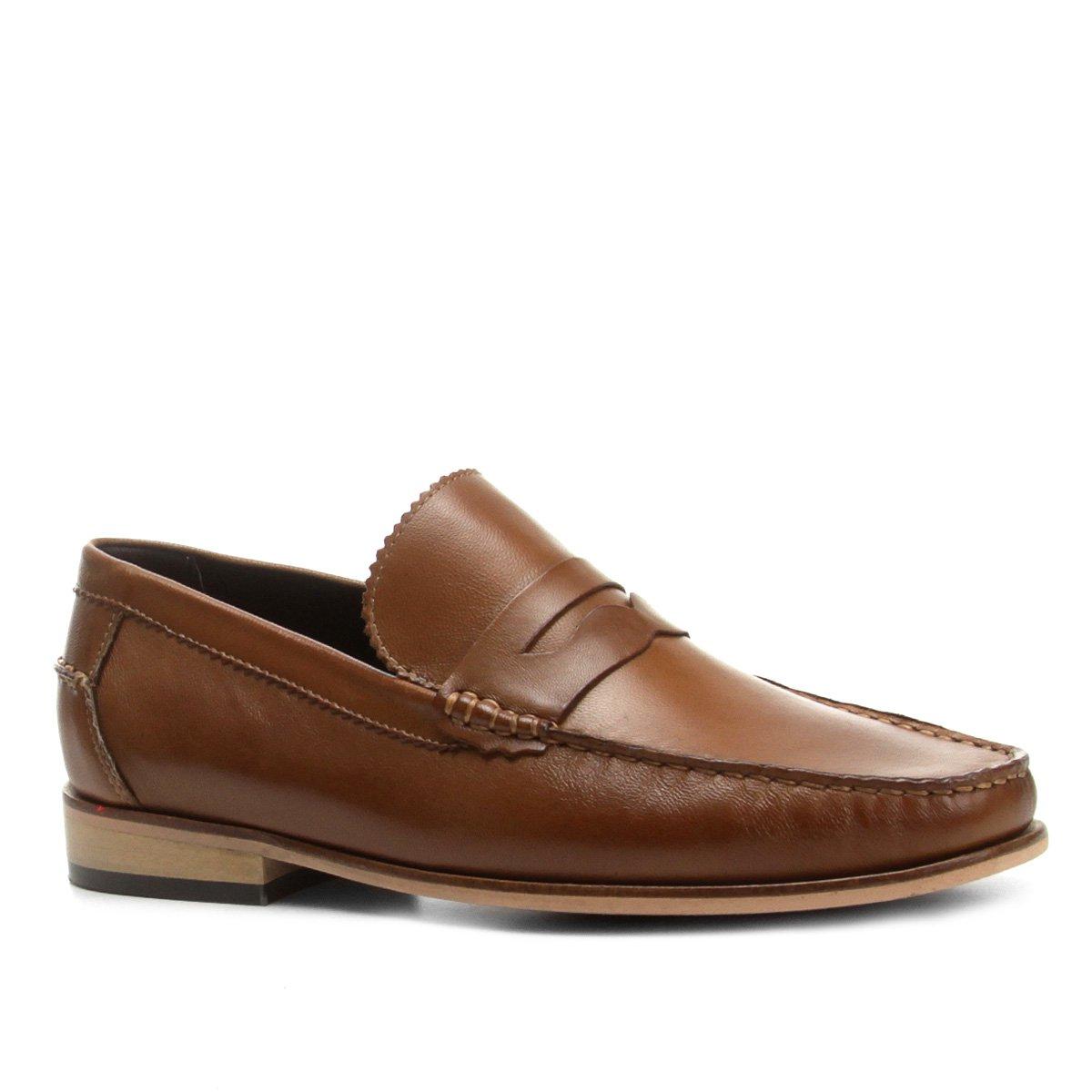 aee3bad35b Mocassim Couro Shoestock Liso Gravata Masculino - Compre Agora ...