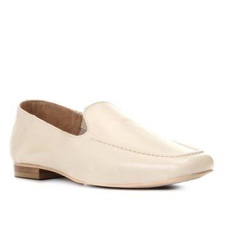 Mocassim Couro Shoestock Loafer Feminino