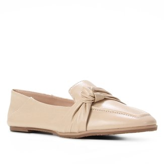 Mocassim Couro Shoestock Loafer For You Feminino