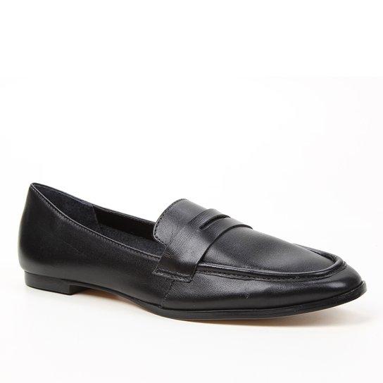 Mocassim Couro Shoestock Loafer For You Feminino - Preto