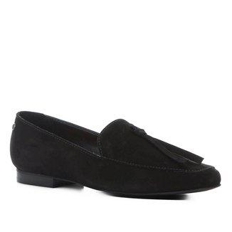 Mocassim Couro Shoestock Loafer Nobuck Feminino