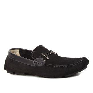 Mocassim Couro Shoestock Nobuck Bridão Masculino