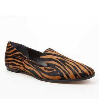 Mocassim Couro Shoestock Pelo Zebra Feminino