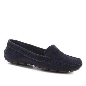 Mocassim Couro Shoestock Pespontos Feminino