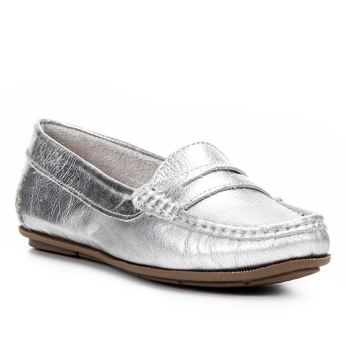 824bccabe9 Mocassim Shoestock Couro - Chumbo - Compre Agora