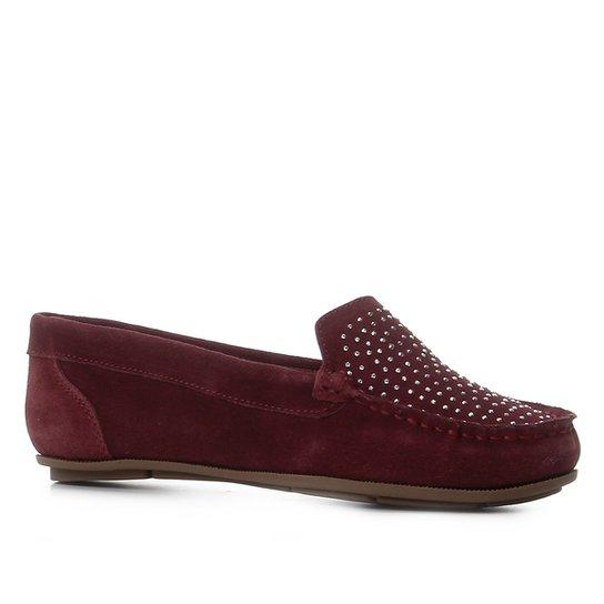 Mocassim Shoestock Hot Fix Feminino - Vinho
