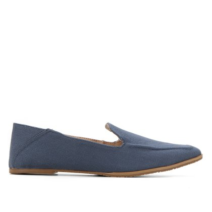 Mocassim Shoestock Loafer Lona Jeans Feminino