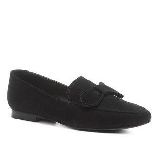 Mocassim Shoestock Nobuck Laço Feminino