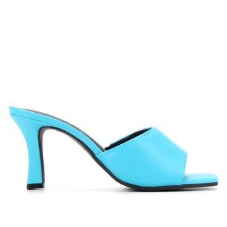 Mule Couro Shoestock Basic Salto Médio