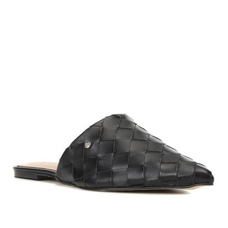 Mule Couro Shoestock Bico Fino Tressê