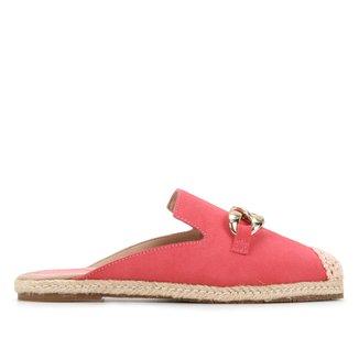 Mule Couro Shoestock Camurça Corrente