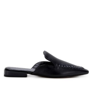 Mule Couro Shoestock Flat Handmade