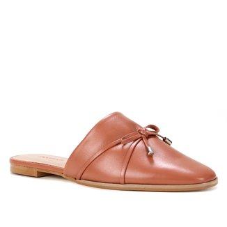 Mule Couro Shoestock Flat Laço
