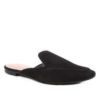 Mule Couro Shoestock Flat Minimal Loafer