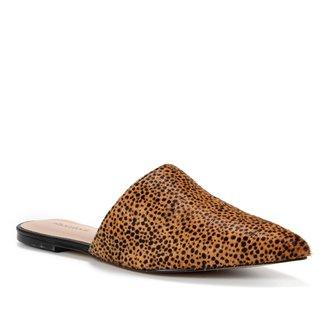 Mule Couro Shoestock Pelo Cheetah