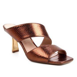 Mule Couro Shoestock Salto Sino