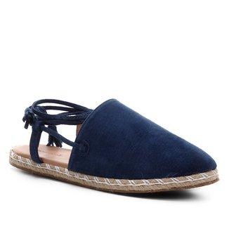 Mule Shoestock Flat Corda Camurça