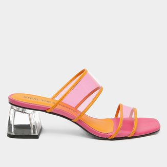 Mule Shoestock Vinil Color Salto Acrílico