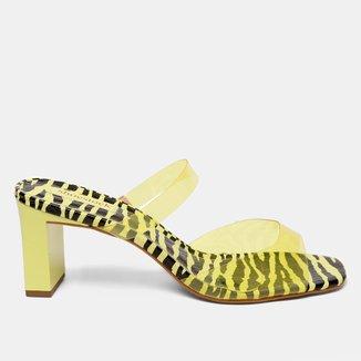 Mule Shoestock Vinil Zebra
