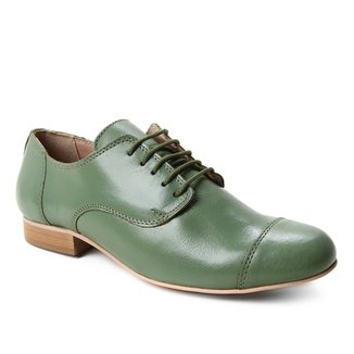 Oxford Couro Shoestock Fachete Feminino
