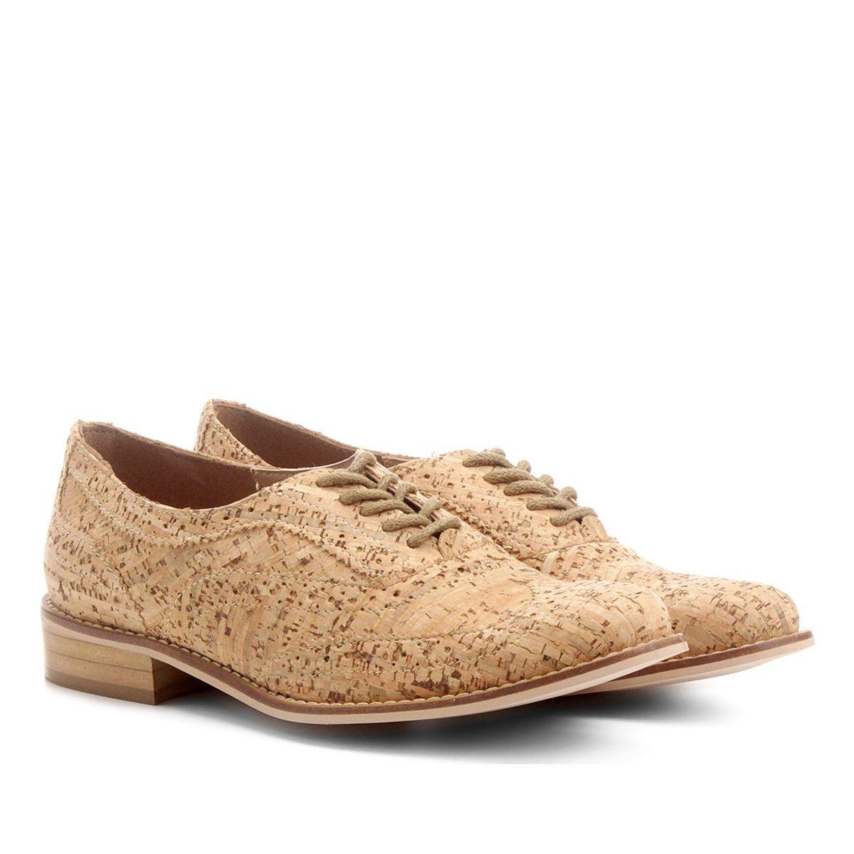 a3218ae396 Oxford Shoestock Cortiça Feminino - Compre Agora