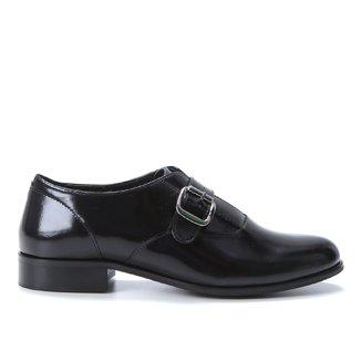 Oxfords Couro Shoestock Fivela Feminino