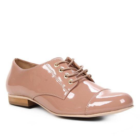 Oxfords Shoestock Verniz Feminino - Noz