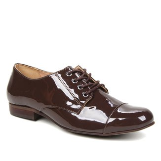 Oxfords Shoestock Verniz Feminino