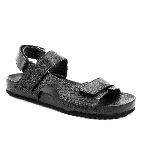 Papete Couro Shoestock Feminina - Preto