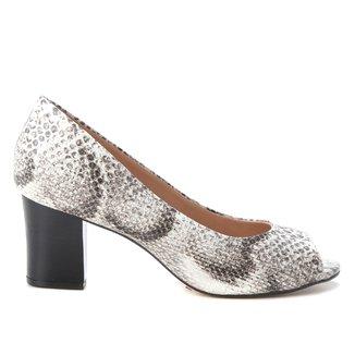Peep Toe Shoestock Cobra Salto Médio