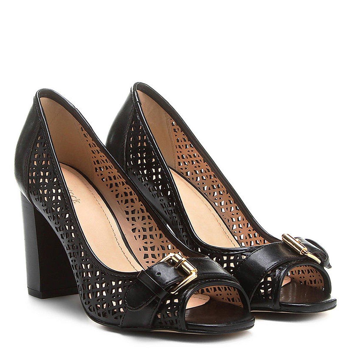 287b7f6057 Peep Toe Shoestock Laser - Compre Agora