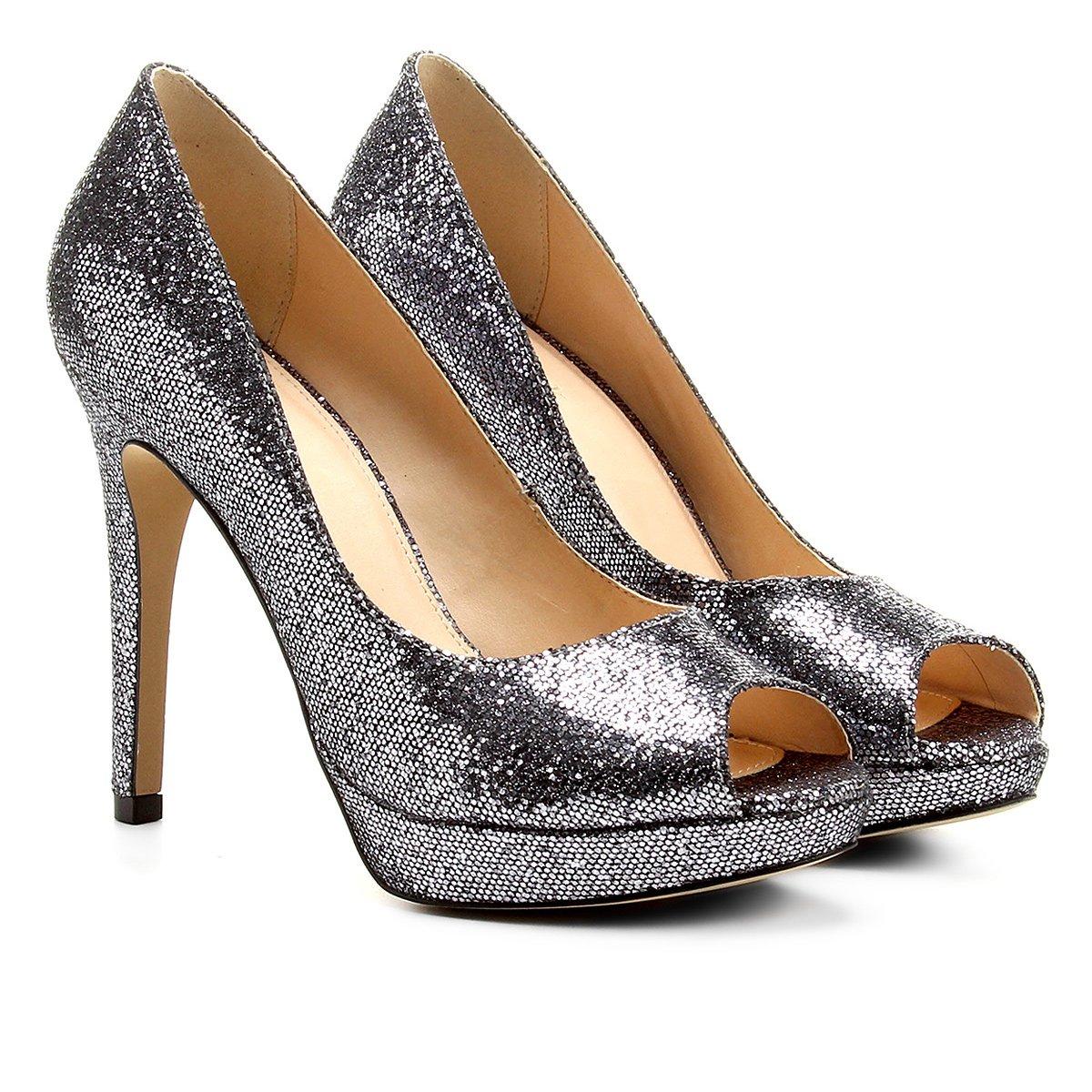 5acbdfdb6 Peep Toe Shoestock Meia Pata Glitter | Shoestock