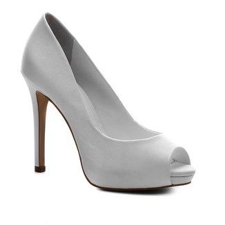 Peep Toe Shoestock Noiva Cetim Meia Pata