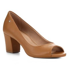 Peep Toe Shoestock Salto Bloco Naked Feminina