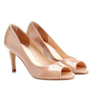 Peep Toe Shoestock Salto Fino