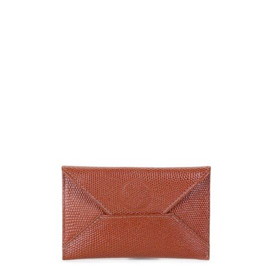 Porta Cartão Couro Shoestock Mini Feminino - Caramelo