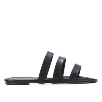 Rasteira Couro Shoestock Básica Tiras