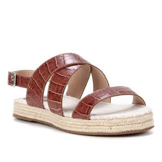 Rasteira Couro Shoestock Corda Croco