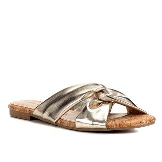 Rasteira Couro Shoestock Cortiça
