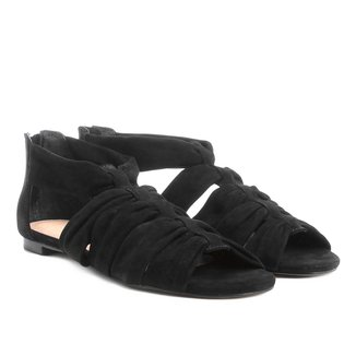 Rasteira Couro Shoestock Faixas