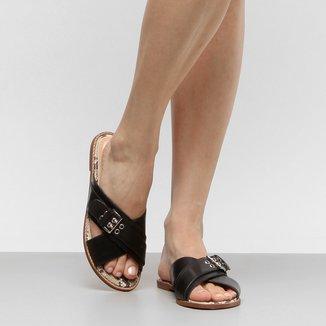 Rasteira Couro Shoestock Fivela