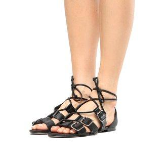 Rasteira Couro Shoestock Fivelas