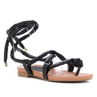 Rasteira Couro Shoestock Gladiadora Amarração