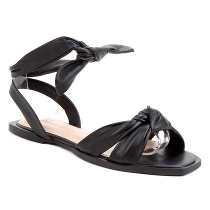 Rasteira Couro Shoestock Lace Up Cali